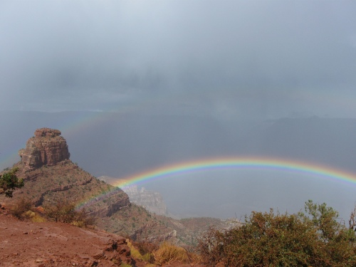 Double Rainbow and O'Neill Butte