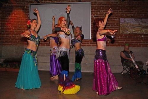 Troupe HipNautic- from the left: Tama, Raja, Zahyra, Marjani, and Krishana