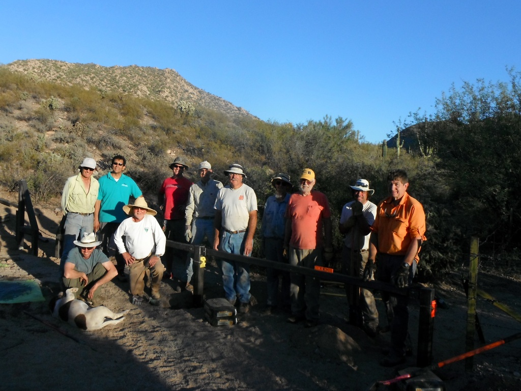 A great crew! Sasha the dog, Chris, Steve, Francisco, Al, Rob, David, Tom, Joe, Lee, Max, and Shawn