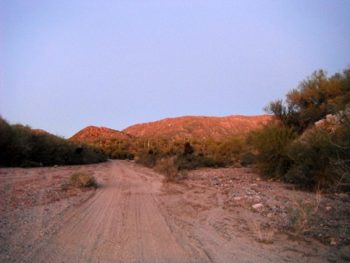 Looking north  toward The Spine at sunset
