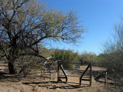 New gate in Walnut Canyon