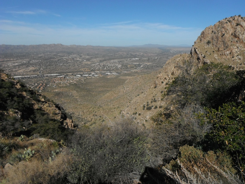 View NW from the saddle
