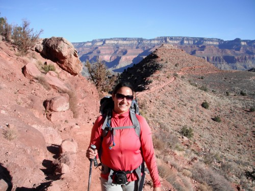 Smiling in the Supai on the South Kaibab Trail