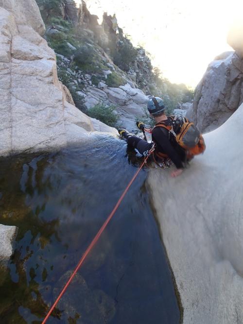 150 ft. 1st rappel