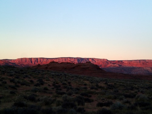 Vermilion Cliffs at sunrise