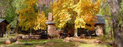 Scenic view of Phantom Ranch in the Fall. Photo courtesy of Grand Canyon Lodges