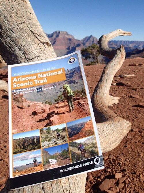 Arizona Trail Guidebook in its natural habitat