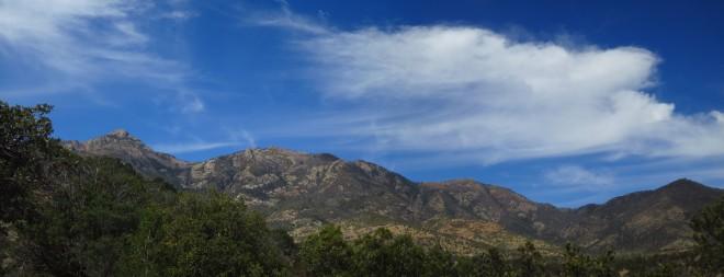 The sparkling Santa Ritas on a gorgeous day!