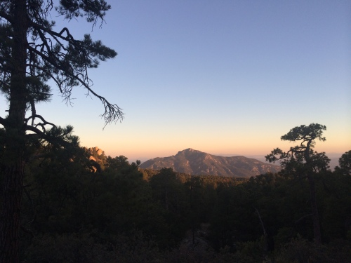 Sunset on Rincon Peak