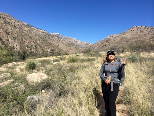 India enjoying the Catalinas