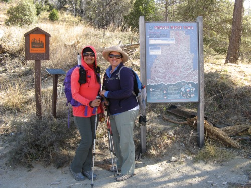 Sirena & Wendy at Oracle Ridge Trailhead
