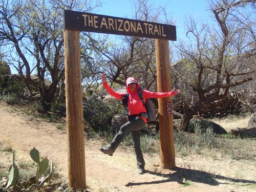 Taking off from American Flag Trailhead