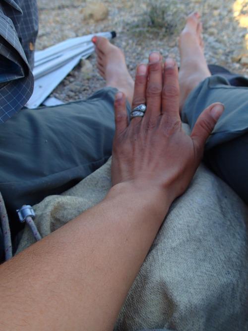 Tan hands