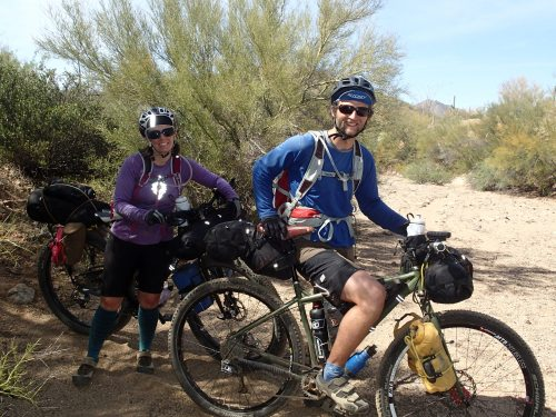 Alaskan bikepackers doing a long section from Tucson to the Grand Canyon