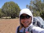 P-J Zone guest blogger trail selfie