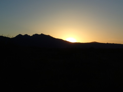 Sunset behind the Peaks