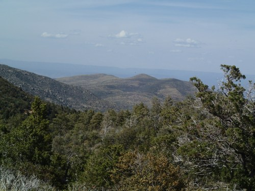 The Mogollon Rim in the distance
