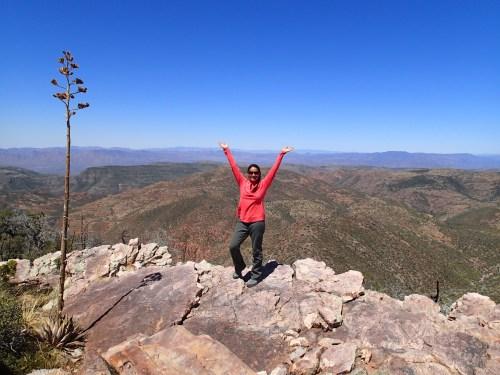 Spectacular overlook in the Mazatzal Wilderness