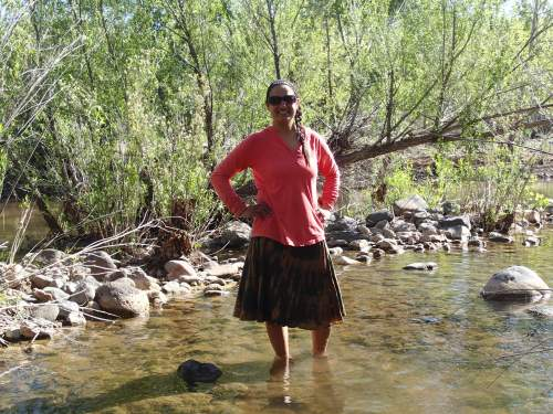 Standing in Rock Creek