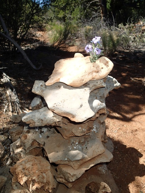 Flower holder cairn