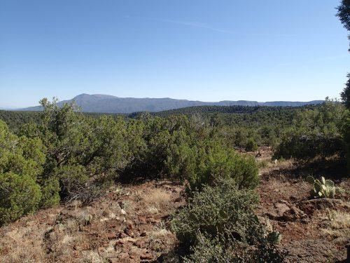 Looking back at North Peak