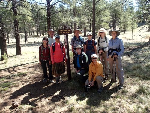 Starting our hike into Flagstaff from Sandy's Canyon TH