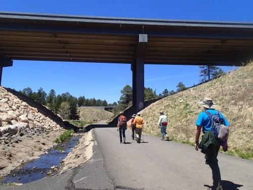 Hiking under I-40
