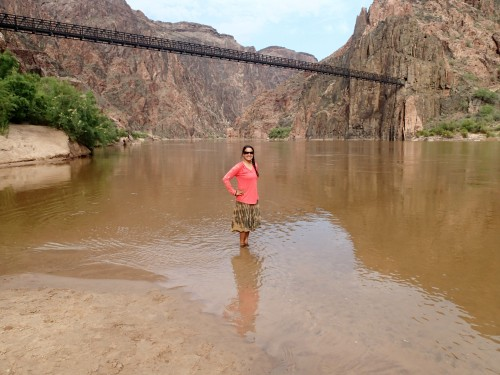 Feet in the icy Colorado River!