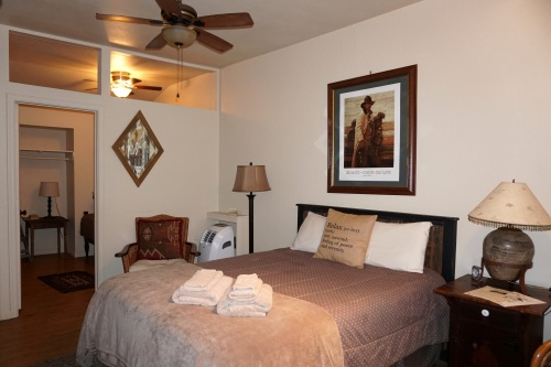 My relaxing room at El Rancho Robles Guest Ranch