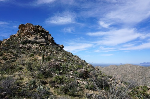 Saddle on the Cochie- Mustang connector route- Picacho Peak at right