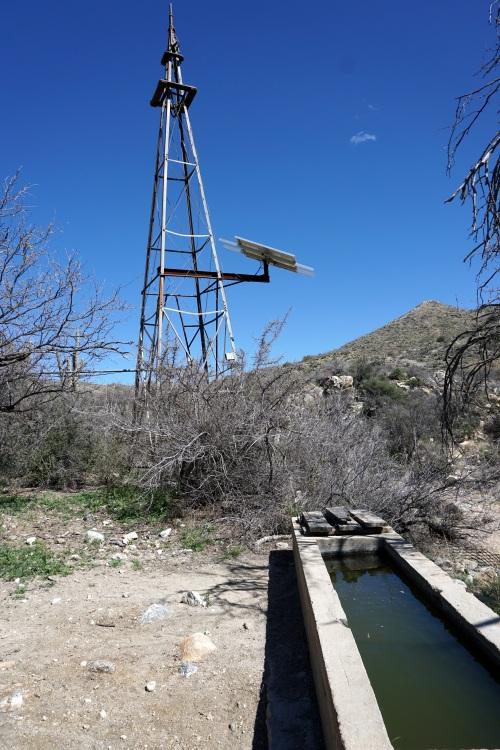 Wild Burro Tank solar windmill