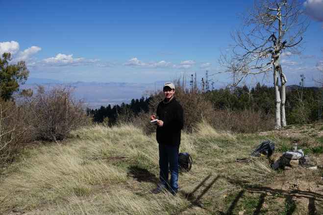 Chase signs in at the Mount Lemmon Highpoint