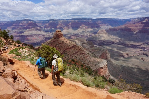 A perfect day for a hike- 7 miles and 4700 ft. down the South Kaibab to Phantom Ranch