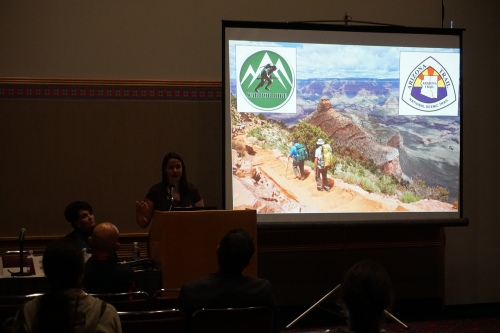 Presenting at the International Trails Symposium about my work with Warrior Hike