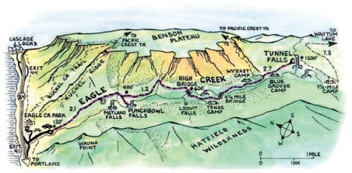 Map I found online of the Eagle Creek area