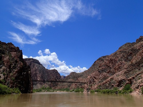 Arizona Trail crossing the Colorado River on the Black Bridge