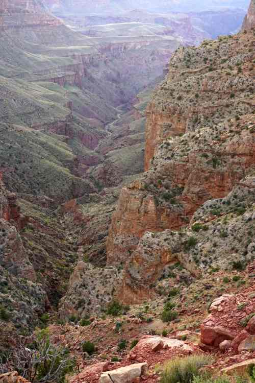 75-Mile Canyon- in a couple of days I'd be camping where this canyon comes out at the Colorado River