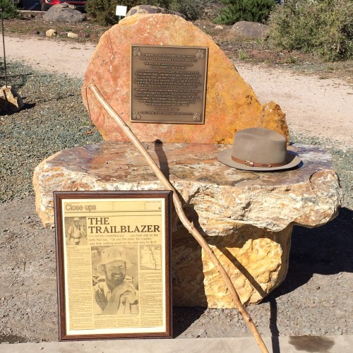 Dale Shewalter Memorial Bench in Tusayan