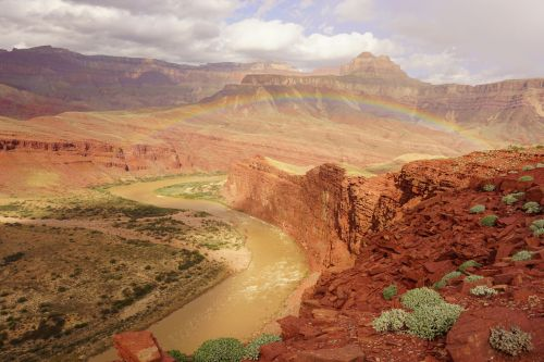 Outrageously good rainbow over Unkar Rapid