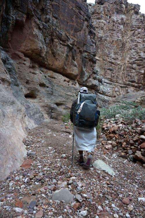 Rocking the trash-compactor bag rain skirt