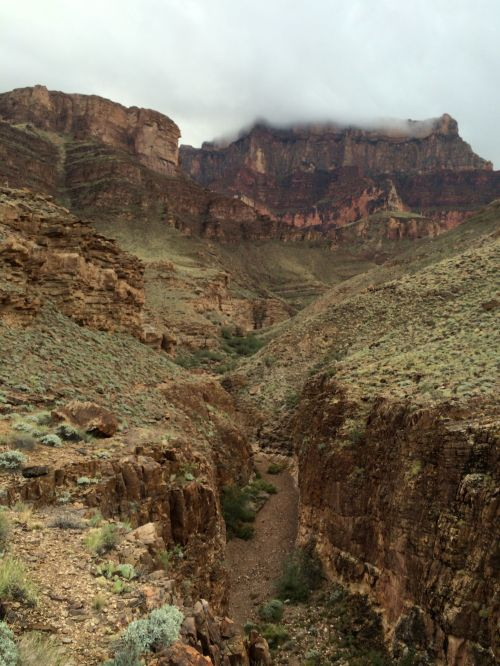 Looking down on 75-Mile Canyon Narrows