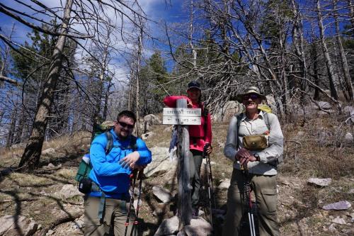 Miller Peak Junction at 9050 ft.
