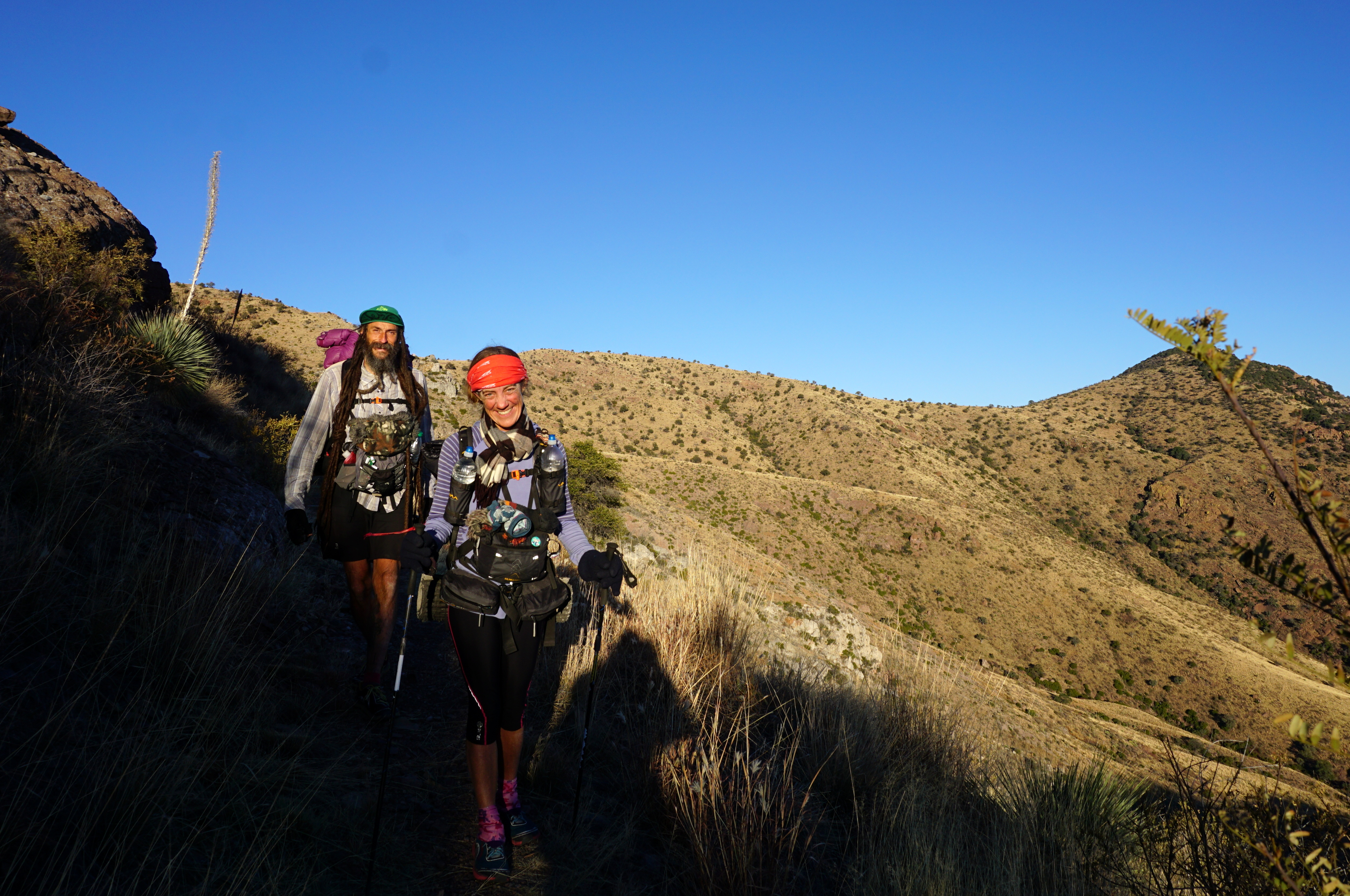 Kathy and Ras nearing the Mexican border
