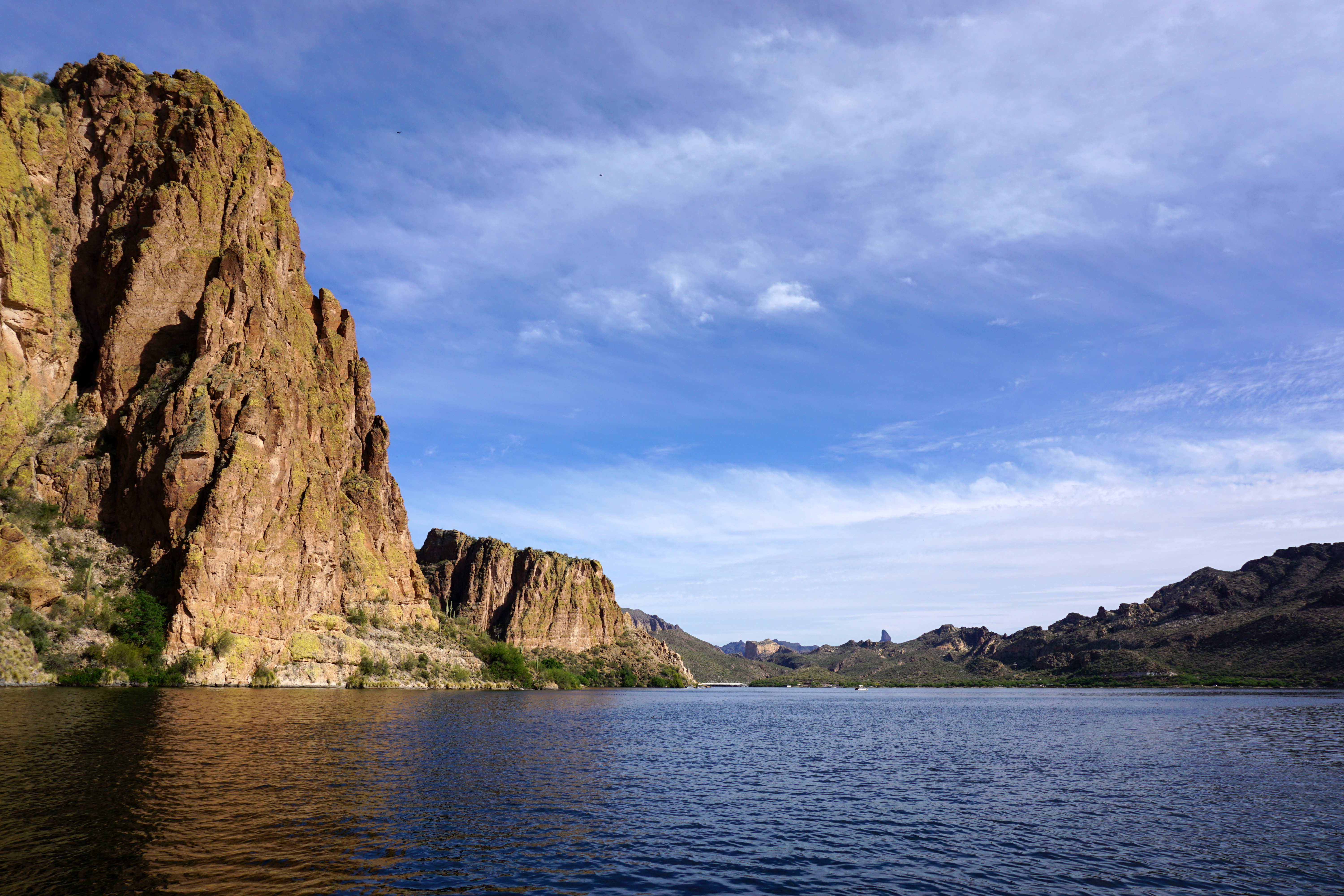 Canyon Lake with Weaver's Needle just right of center