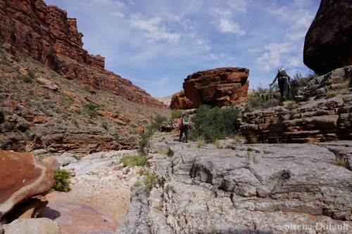 Redwall/Supai contact in Flipoff Canyon