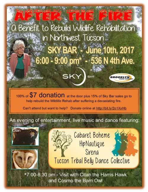 After the Fire Wildlife Rehab Benefit 2017