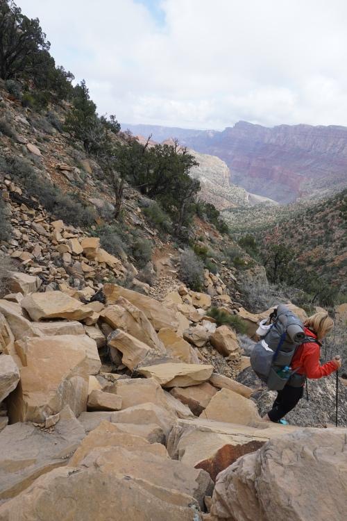Coconino rockslide, Tanner Trail