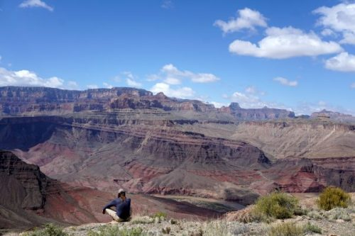 Mark taking in the view, Tanner Trail