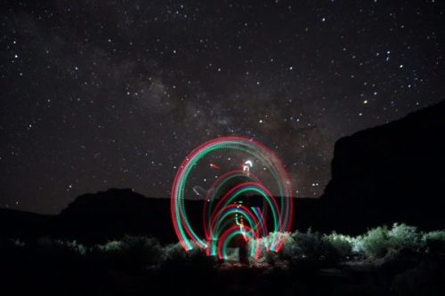 While my hiking companions sleep, I play with lights