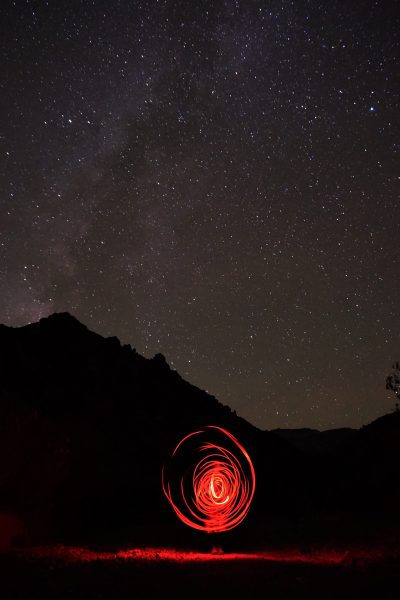Milky Way Light Painting